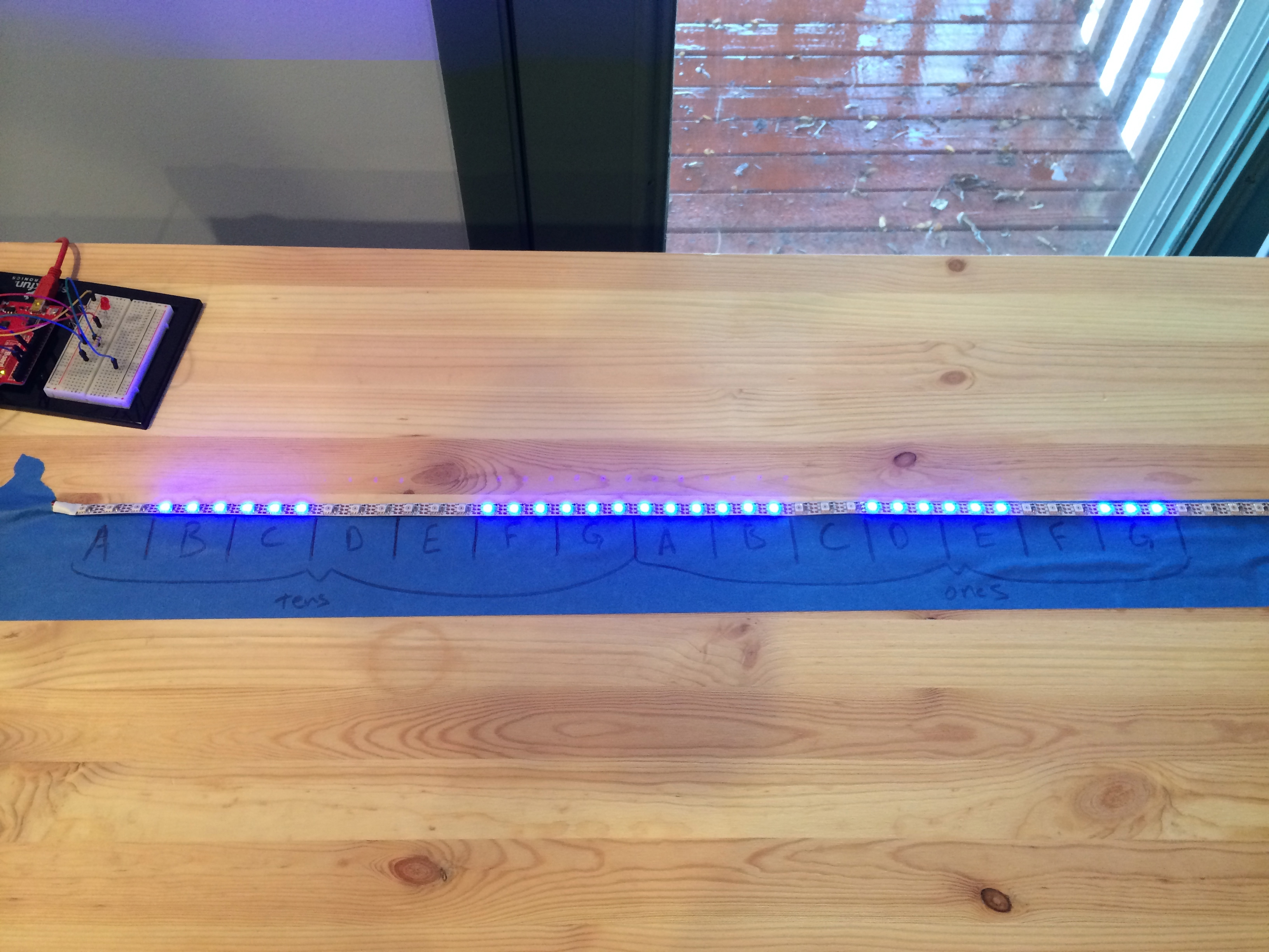 LED Strips As 7 Segment Display - rubyist